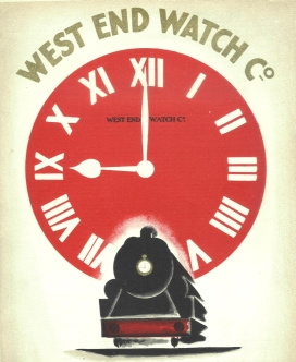 Vintage Indian Railways poster of West End Watch Co.