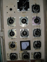 Program switch panel provided in cab-2.