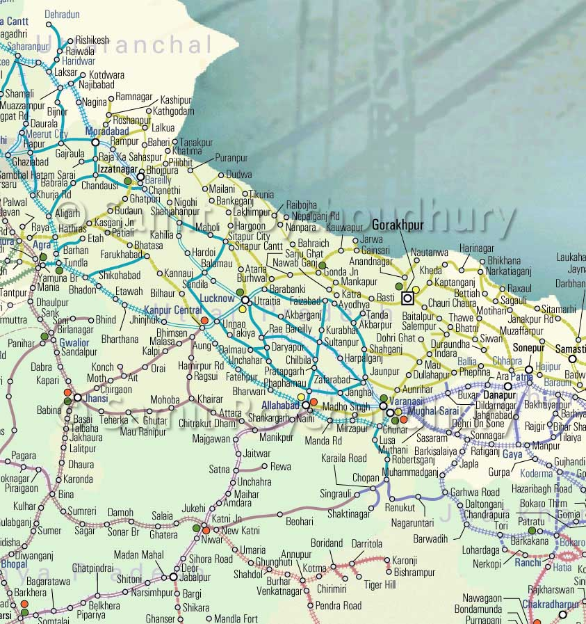 IRFCA Indian Railways FAQ Route Map  4 North UP
