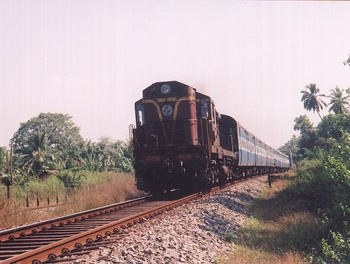 Vishakapatnam, WDM-2, 17836, Indian Railways, Indian, Railways, India, Railway, IRFCA, loco, locomotive, engine, trains, train engine